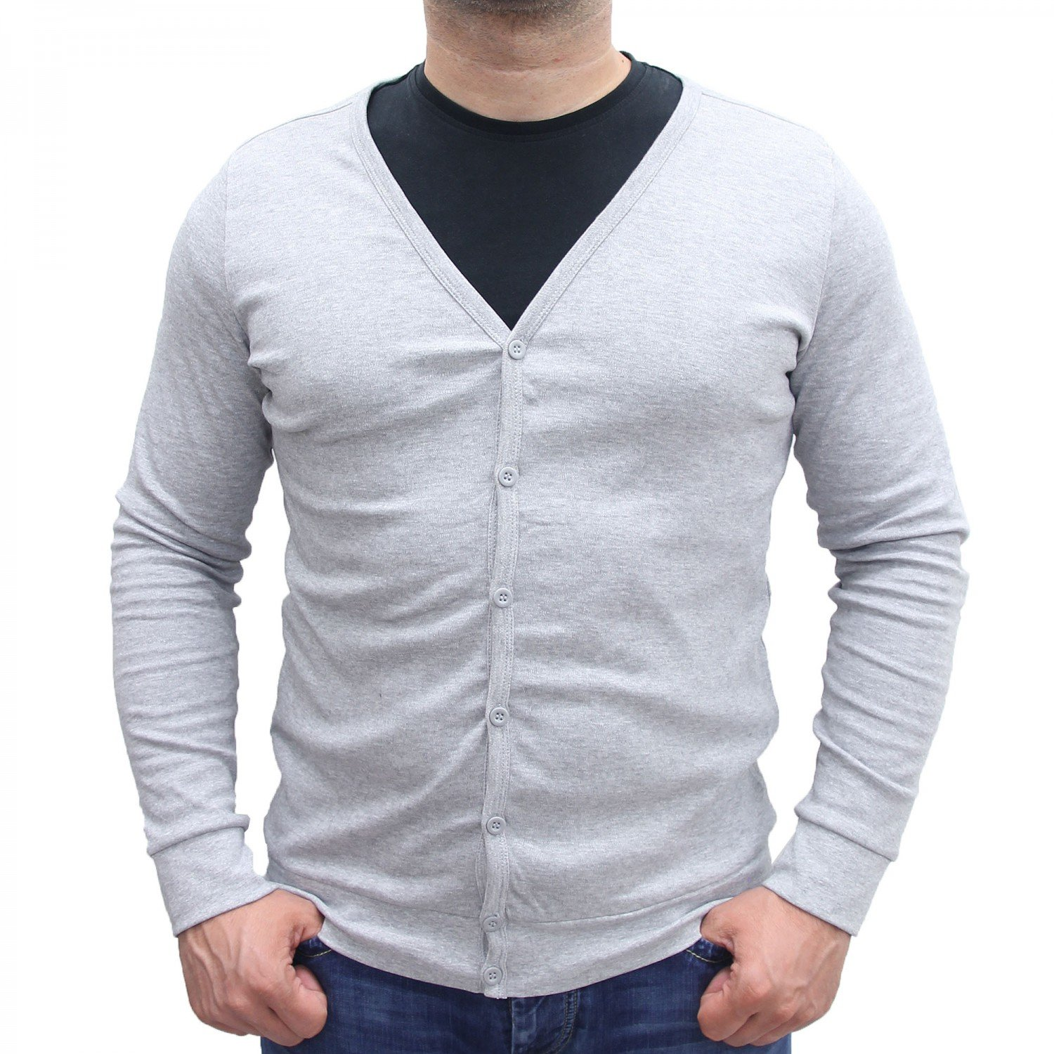98?-?86?Men's Summer Cardigan Long-Sleeved Jacket Sweater Shirt