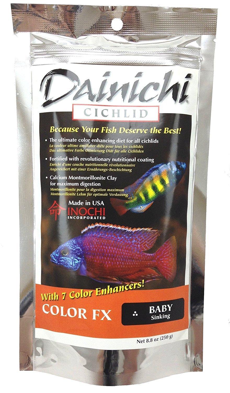 Dainichi Cichlid Food - Color FXBaby Sinking Pellet - 8.8 oz