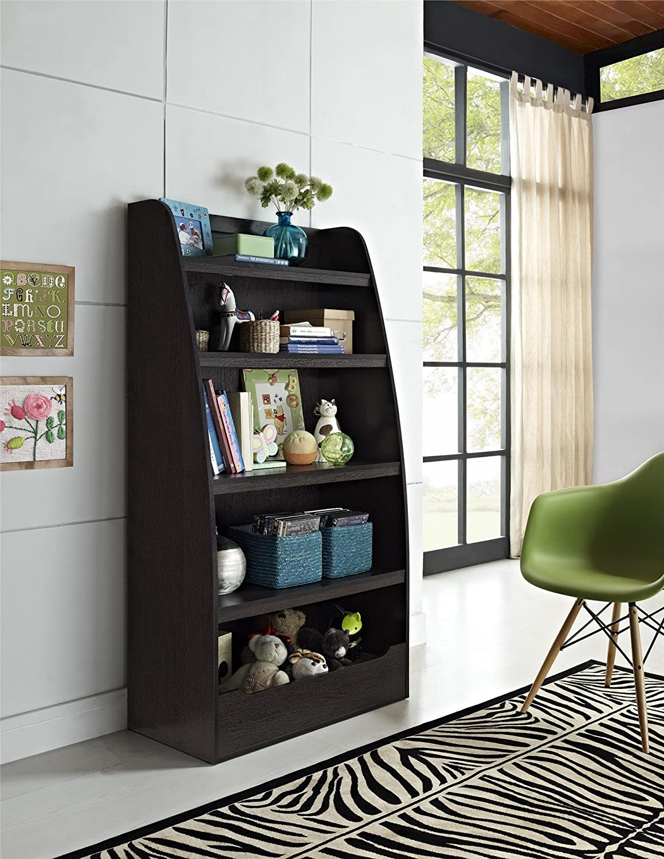 Ameriwood Home Hazel Kids 4 Shelf Bookcase, Espresso