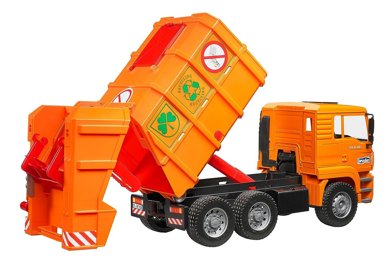 MAN M/üllwagen orange Bruder 2760