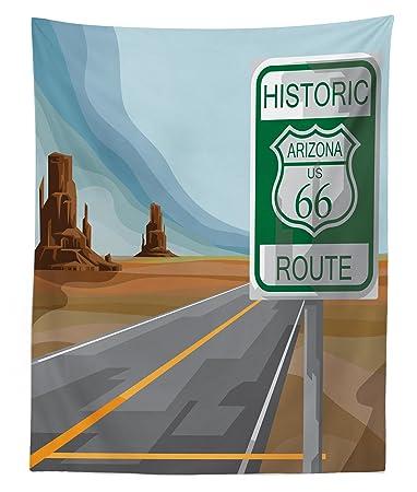 Amazon.com: Tapiz de la Ruta 66 Lunarable, Cartel de la Ruta ...