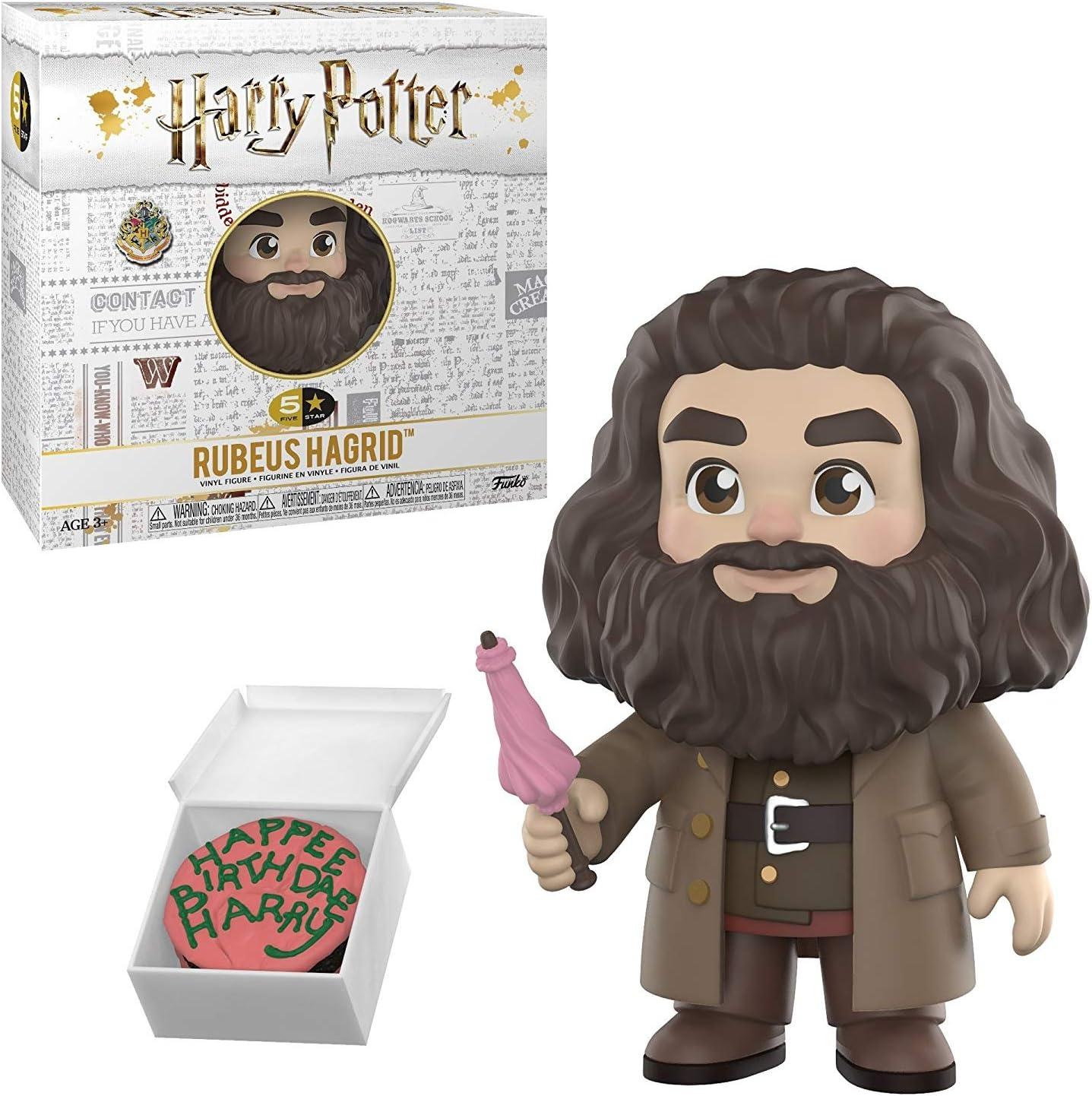 Harry Potter Rubeus Hagrid Funko Figura de acción de 5 estrellas (incluye estuche protector de caja Pop compatible)
