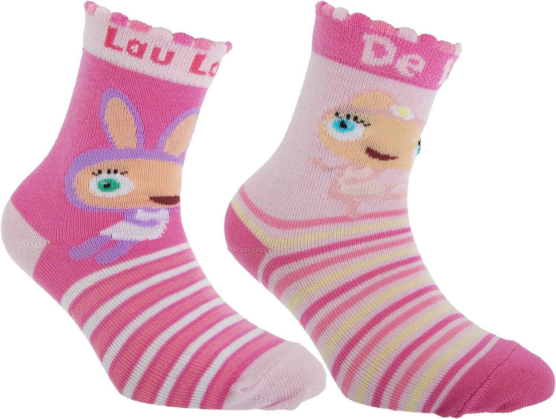 2 Pairs Waybuloo Childrens//Kids Striped Socks