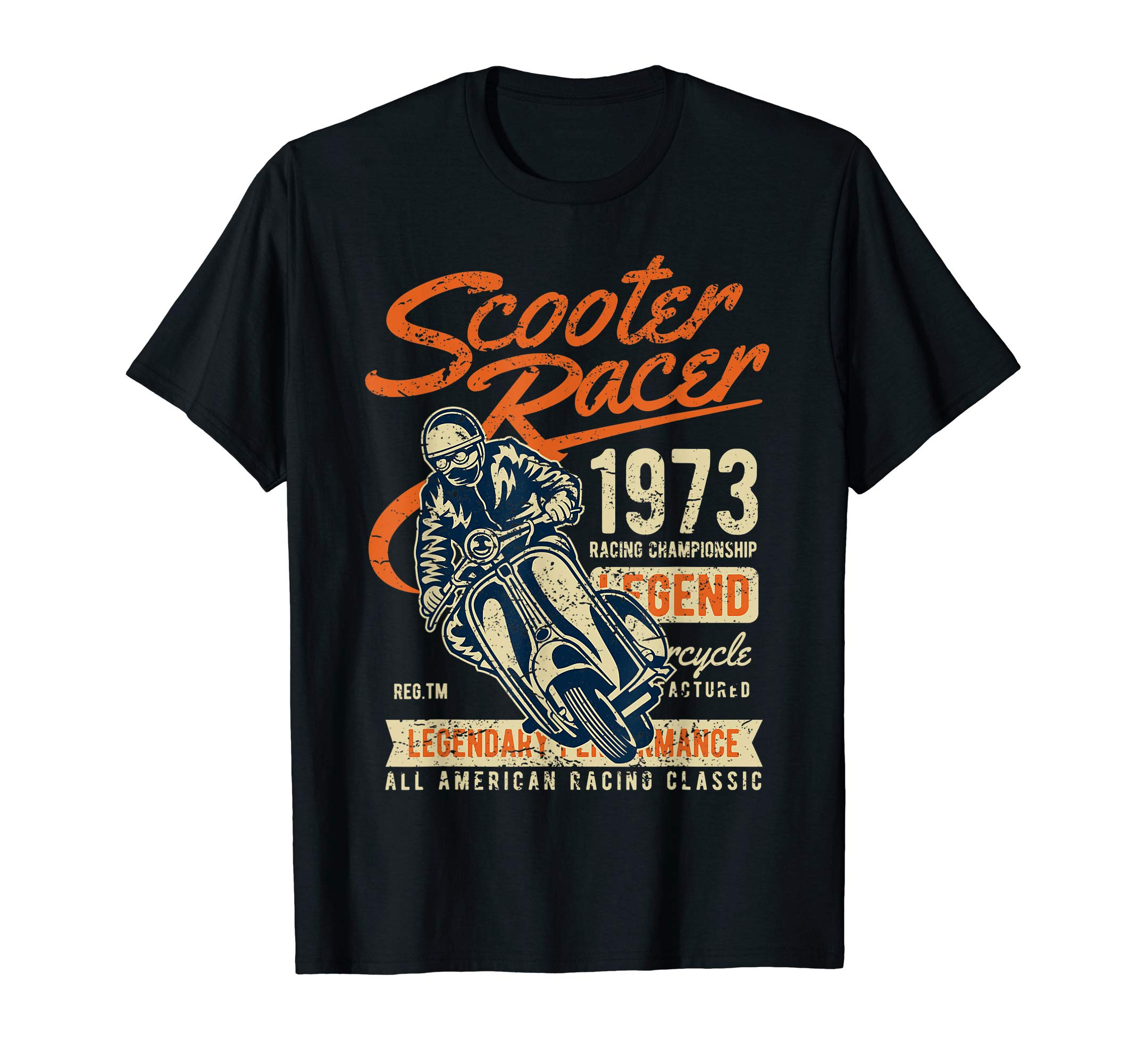 Scooter Shirt Scooter Racer Legend 1973 Classic Vintage by Awesomatic Scooter Tees