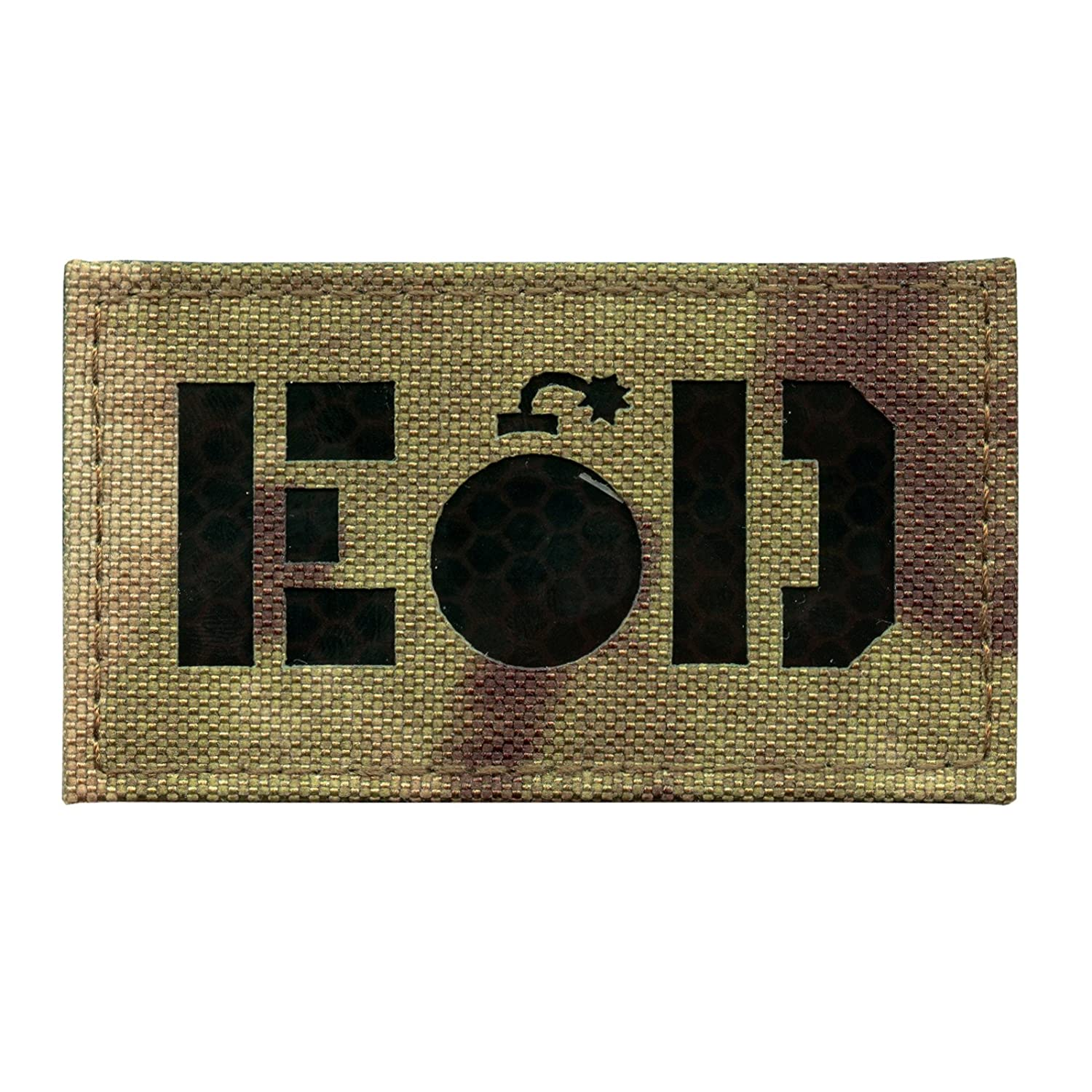 2AFTER1 Infrared IR Multicam EOD Explosive Ordnance Disposal Morale Tactical Fastener Patch