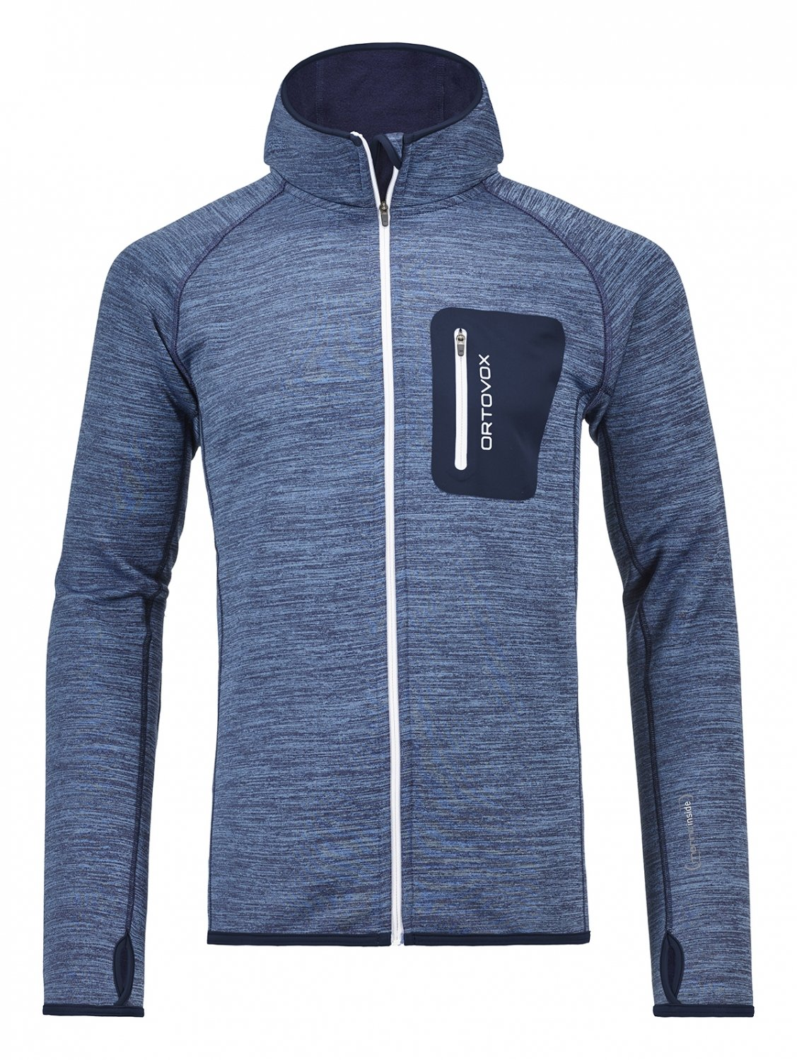 Ortovox Fleece Melange Hoody - night blue blend