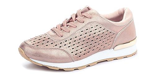 La Push - Zapatillas Deportivas de Mujer Rosas – Tallas 36 a 41 (39)