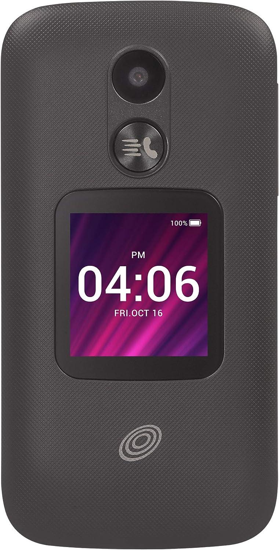 TracFone My Flip 2 4G LTE Prepaid Flip Phone (Locked) - Black - 4GB - Sim Card Included - CDMA