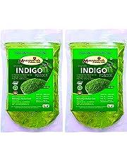 100% Natural Organically Indigo Powder (INDIGOFERA TINCTORIA) (PACK OF 2) (200 Grms) 0.44 LB