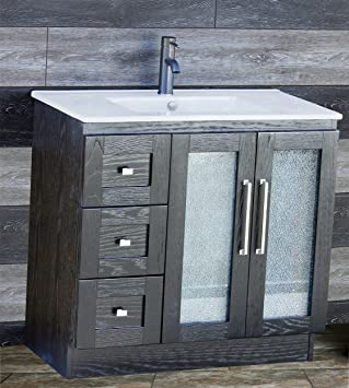 Amazoncom Elimaxs Solid Wood 36 Bathroom Vanity Cabinet Ceramic