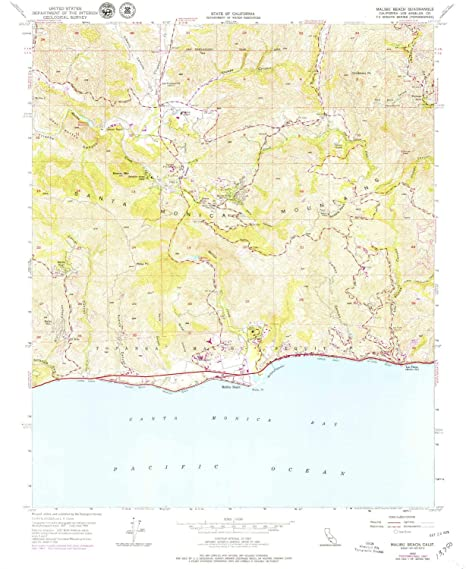 Amazon.com : YellowMaps Malibu Beach CA topo map, 1:24000 ... on hollywood map, corona del mar map, desert cities map, mt laguna map, forrest park map, la jolla map, pacific palisades map, monterey map, san fernando valley map, ventura map, new cuyama map, pinon hills map, miami map, abalone cove map, zuma beach map, mid city map, los angeles map, santa monica map, pismo coast map, wilshire corridor map,