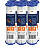 """6-PACK Of 5 Micron Pleated Sediment Water Filter Cartridge 10""""x2.5"""" Standard Size by Aquaboon"""