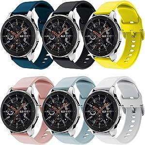 Syxinn Compatible para 22mm Correa de Reloj Galaxy Watch 46mm/Gear S3 Frontier/Classic/Galaxy Watch 3 45mm Banda de Silicona Deportiva Pulsera para Moto 360 2nd Gen 46mm/Huawei Watch GT/Ticwatch Pro