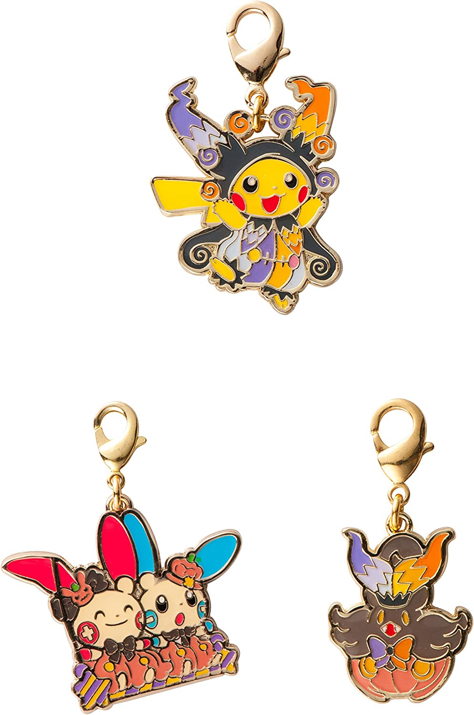 Pokemon Center Original Charm Set Halloween Circus Pikachu Plusle Minun Pumpkaboo Amazon Co Uk Toys Games
