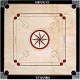 KORNERS Sky Full Size(Large) 32' inches Round Pocket Carrom Board with Coins, Striker & Carrom Powder