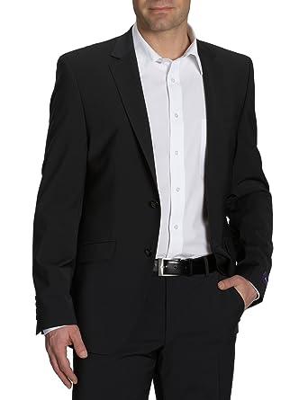 Americana slim fit para hombre, talla 50, color Negro (Rabe 002) Benvenuto