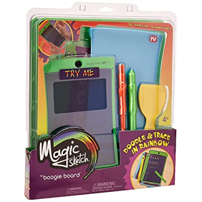 Boogie Board Magic Sketch Color LCD Writing Tablet + 4 Different Stylus and 9 Double-Sided Stencils for Drawing, Writing, and Tracing eWriter Ages 4+: Toys & Games
