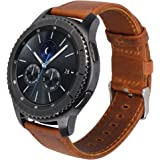 Shopizone Genuine Leather Replacement Strap Band For Samsung Gear S3 Frontier/S3 Classic (Brown)