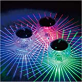 Floating Pool Lights Solar Battery Powered Flowers Inflatable Waterproof Glow Globe,Outdoor Pool Ball Lamp Colourful Changing LED Night Light Party Wedding Decor for Swimming 2 Pcs (multicolor)