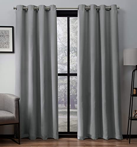 Exclusive Home Curtains Heath Textured Linen Window Curtain Panel Pair Review