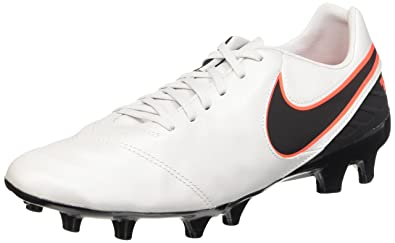 promo code 3f645 e25e4 Nike Tiempo Mystic V FG, Chaussures de Football Homme, Blanc Noir Orange