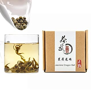 Cha Wu-[A] Jasmine Pearls Tea Dragon Ball,3.5oz/100g,Loose Leaf Green Tea of Chinese