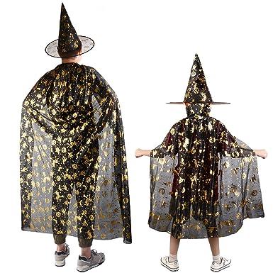 ZOYLINK 2 Piezas Capa De Bruja De Halloween Capa De Disfraz De ...