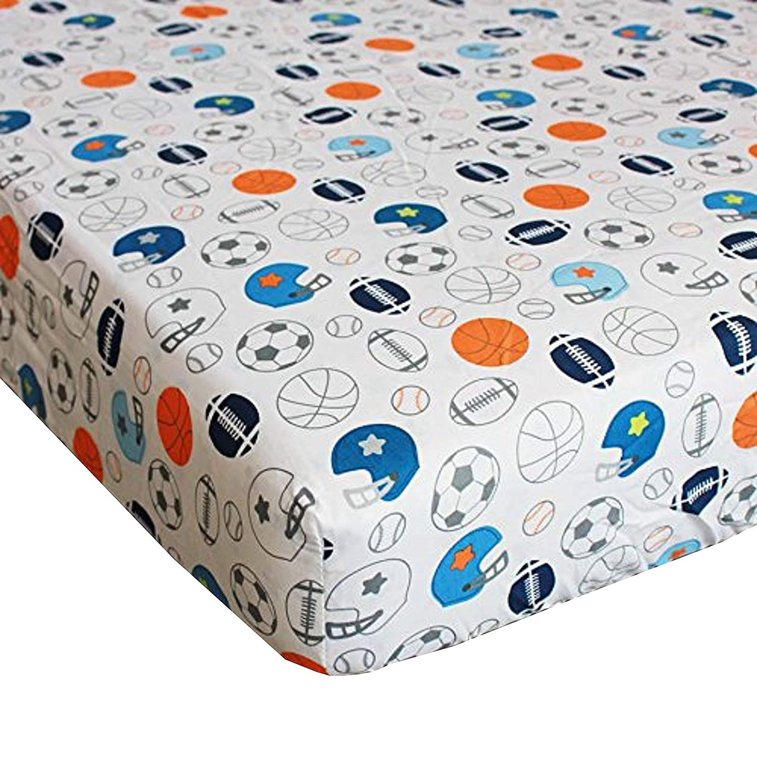 with musical mobile FCL 11 pieces Baby Boy Sport Crib Bedding Set