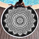 Sleepwish Ombre Beach Towel Indian Wall Hanging Beach Throw Tapestry Yoga Mat Mandala Large Round Beach