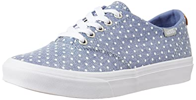 c3ab1fb9bd2bce Image Unavailable. Image not available for. Colour  Vans Women s Winston  Decon (Polkadot) Blue and White Canvas Sneakers ...