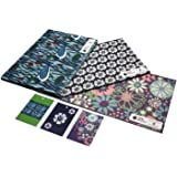 Bold Bundle Eco Friendly Recycled Birthday Gift Wrap Wrapping Paper Set by Re-wrapped (3 Sheets/3 Tags)