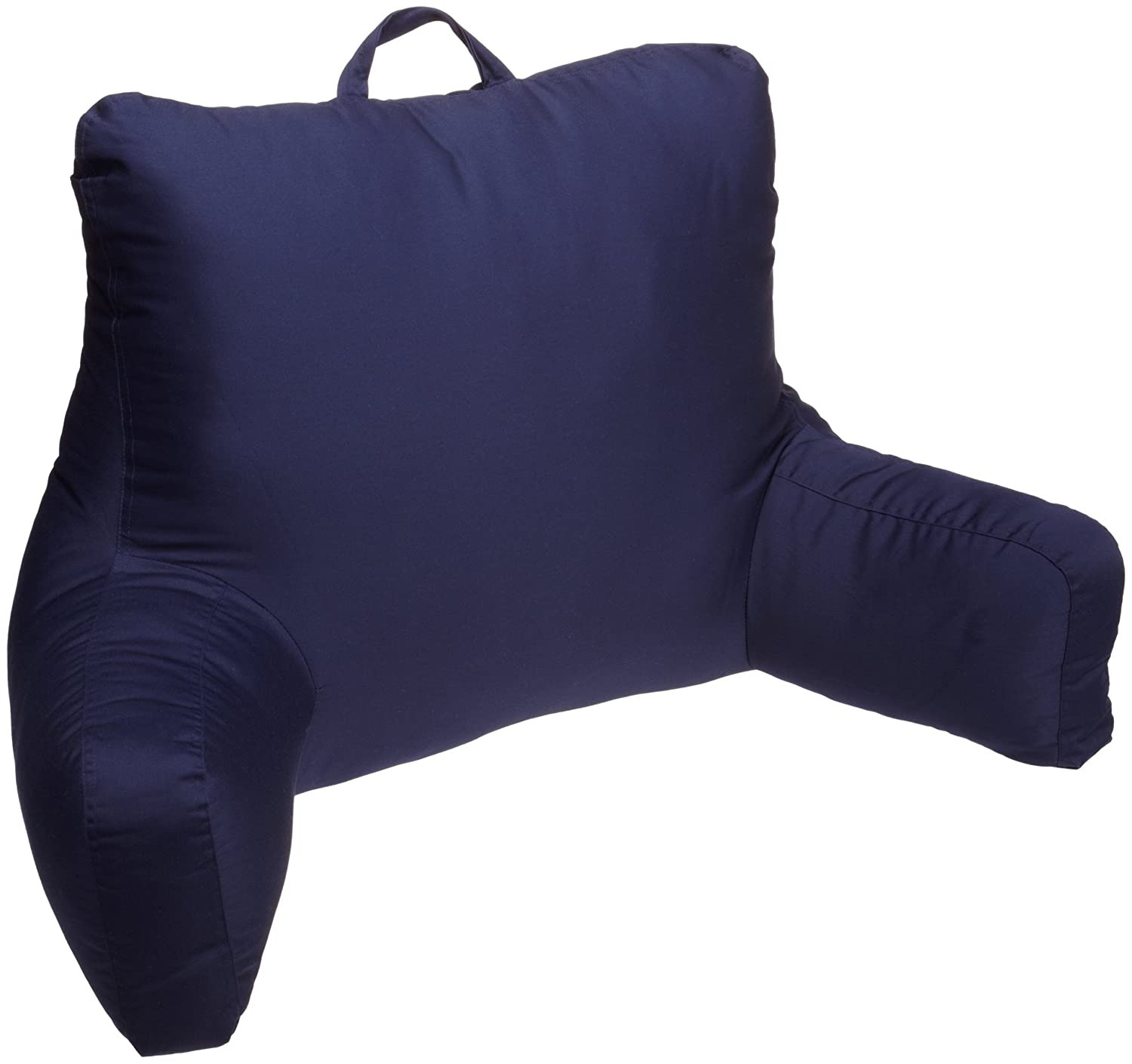 Bed rest pillow walmart - Amazon Com Brentwood Originals Brushed Twill Bedrest Navy Home Kitchen