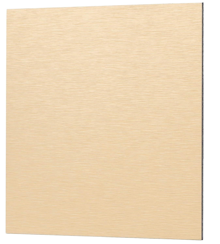 MKK Wandabdeckung Loch Abdeckung Wandhalterung Front Lüfter Halterung Rosette Gitter Wandverkleidung ALU - Gold gebürstet