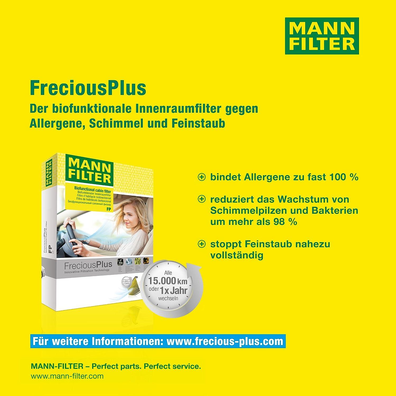 MANN-FILTER  FP 3037 Originale  Filtro Abitacolo Filtro Antipolline Biofunzionale FreciousPlus Per Automobili