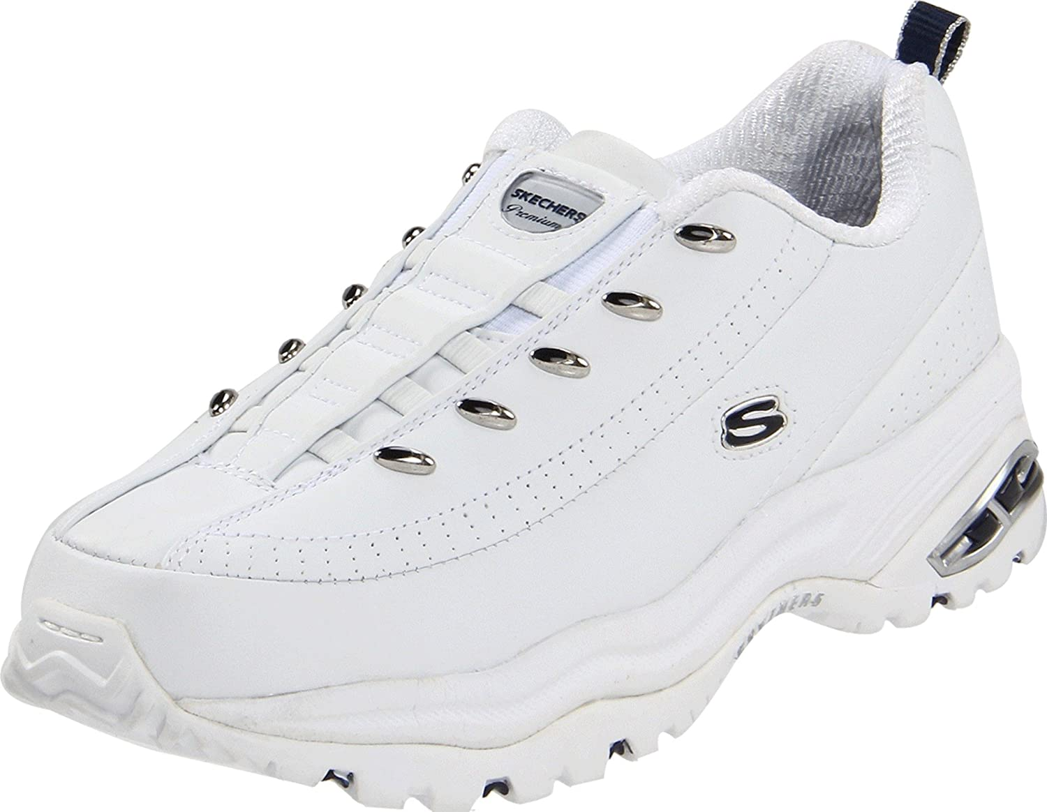 Skechers Sport Women's Premium-Premix Slip-On US|White/Navy Sneaker B000PGWET4 9 W US|White/Navy Slip-On 930820