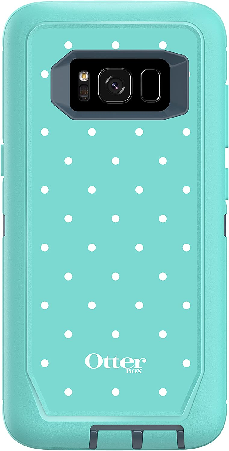 Otterbox Defender Series Screenless Edition for Samsung Galaxy s8 - Frustration Free Packaging - Mint Dot (Tempest Blue/Aqua Mint/Mint Dot)