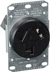 Bryant Electric RR330F, Outlet, Range Receptacle, Black