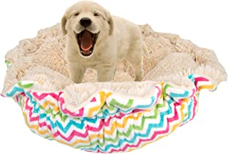 product image for BESSIE AND BARNIE Ultra Plush Ocean Wave/Blondie Luxury Shag Deluxe Dog/Pet Cuddle Pod Bed