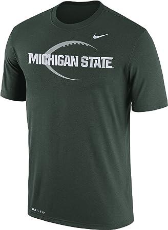 b51be8501e560 Nike Camiseta de fútbol de Michigan Spartans de Estado Verde Icono Leyenda  Camiseta