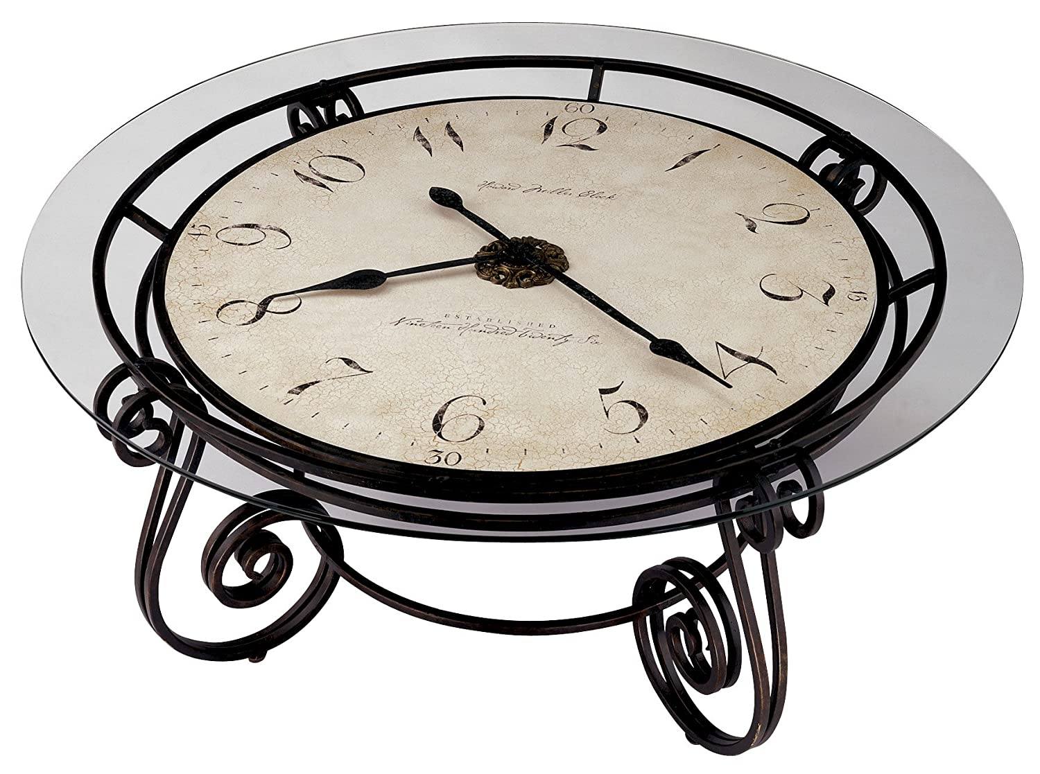 Amazon howard miller 615 010 ravenna cocktail table clock by amazon howard miller 615 010 ravenna cocktail table clock by home kitchen geotapseo Image collections