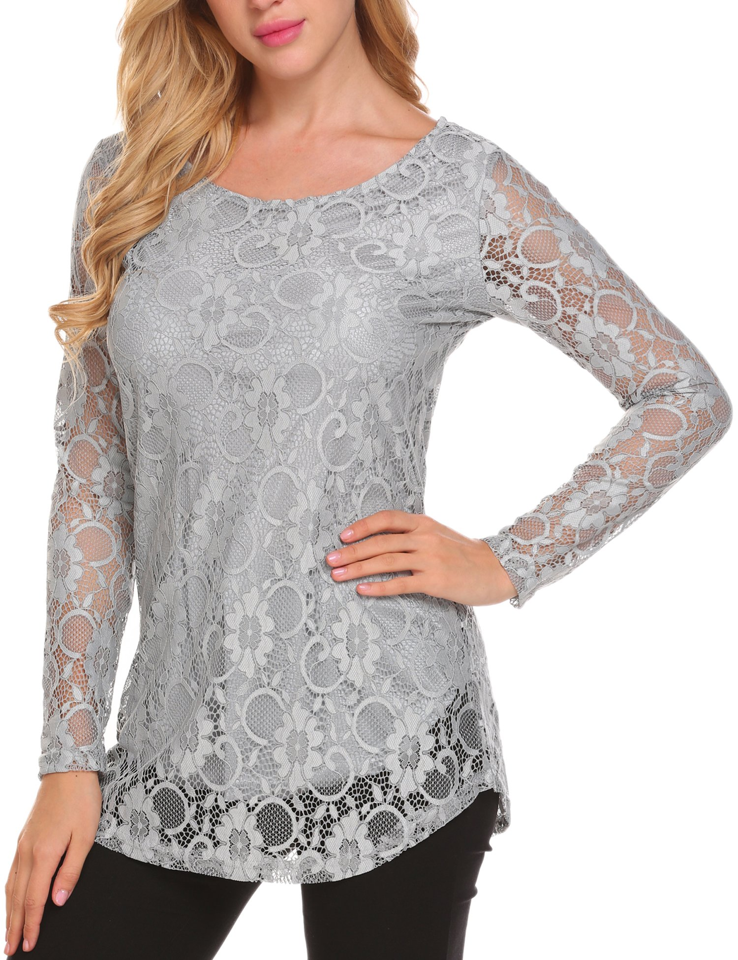 Soteer Women S Full Lace Blouses Overlay Mexican Style Patchwork