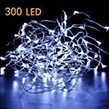 52ft 300LED Pure White Starry String Lights on a Flexible Copper Wire - Perfect For Creating Instant Appeal in Any Setting - Parties, Bedrooms, or an Intimate Environment Anywhere in the Home