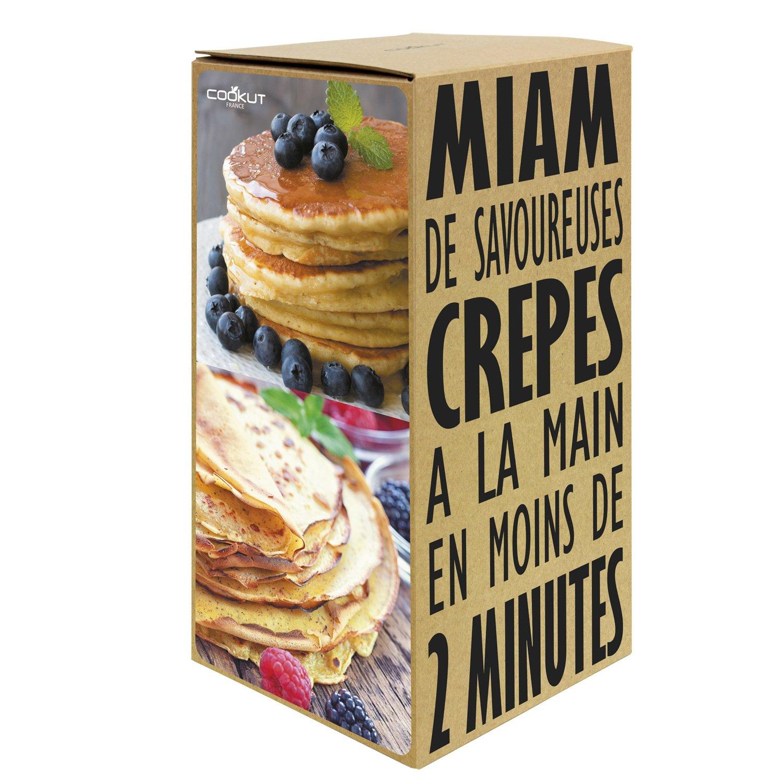 Shaker bicchiere per mischiare per Crepes Pancakes e crespelle con ricetta stampata per 6 o 10 Pancakes