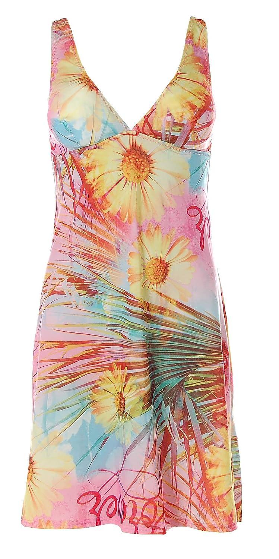Apart Beachwear Damen Kleid Strandkleid Trägerkleid Flower Print