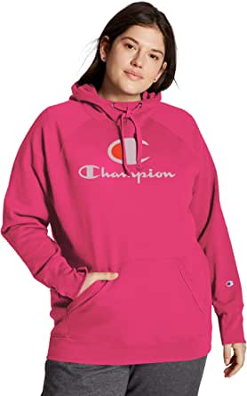 Champion Women's Plus Size Hoodie, Deep Raspberry, 3X
