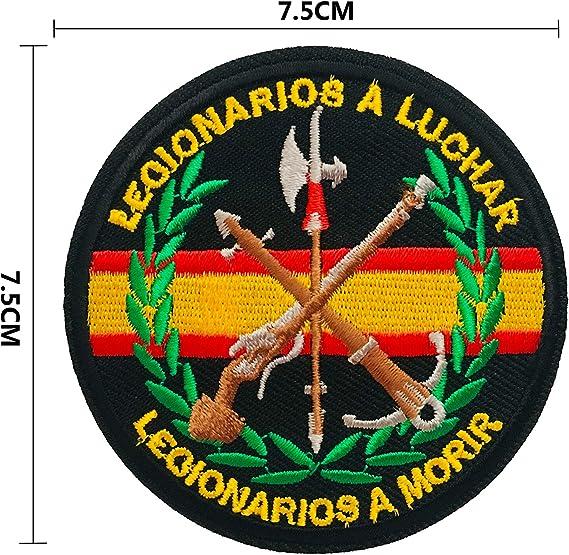 BANDERA DEL PARCHE BORDADO PARA PLANCHAR O COSER (Emblema Militar ...