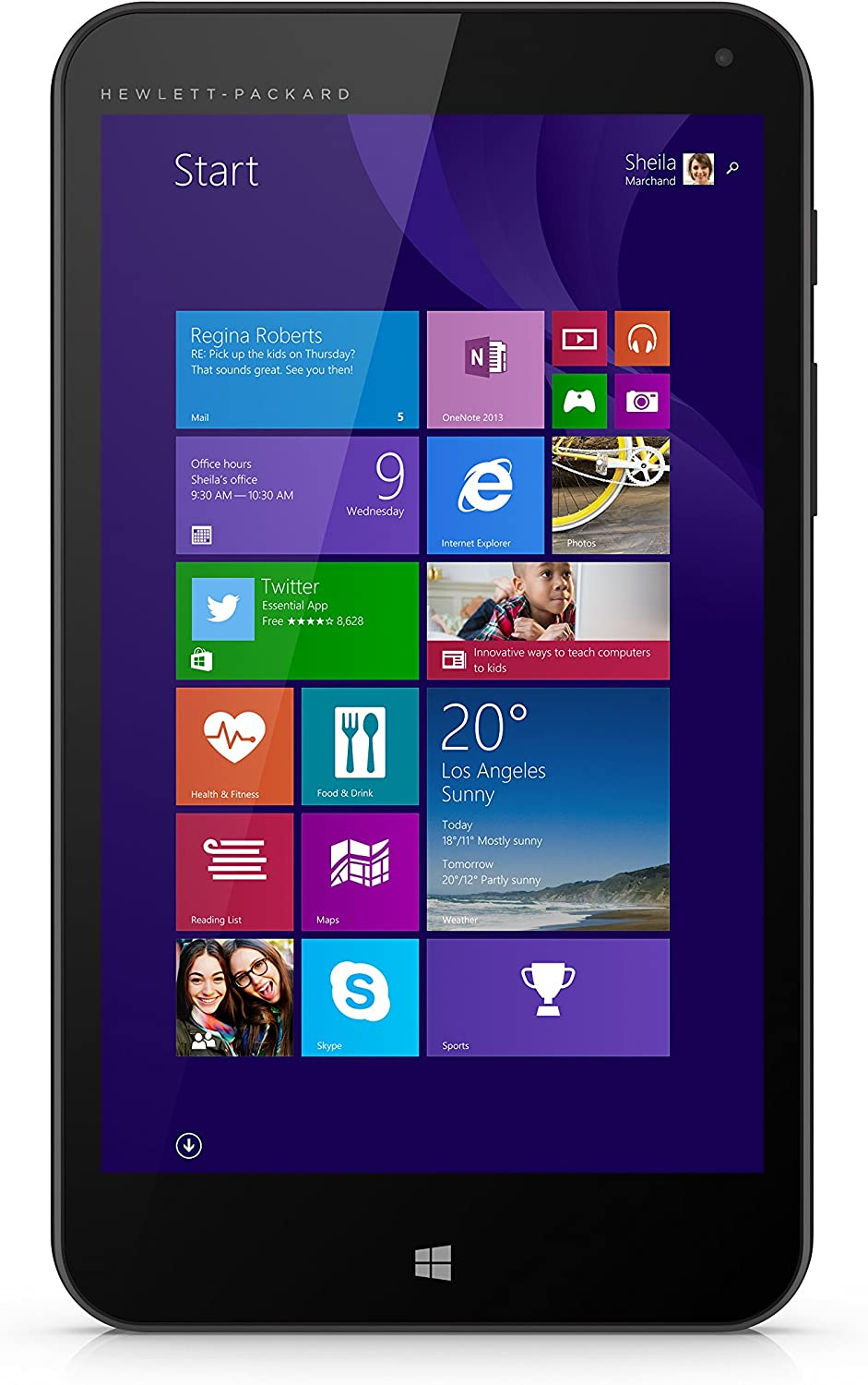 HP Stream 7 Tablet 32 GB Windows 8.1 Signature Edition, Black