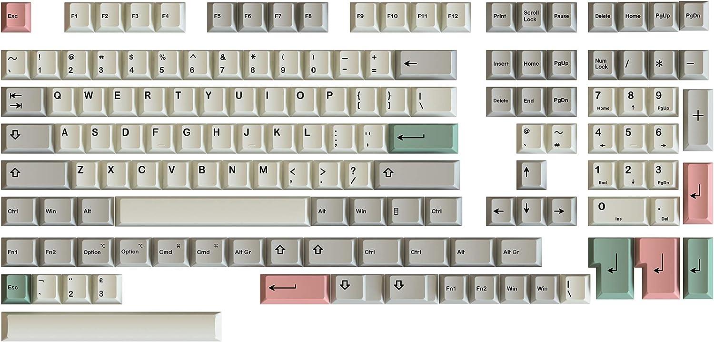 HK Gaming Dye Sublimation Keycaps Chiavi PBT spessi per tastiera meccanica multicolore 9009 Profilo ciliegio 139 Keys