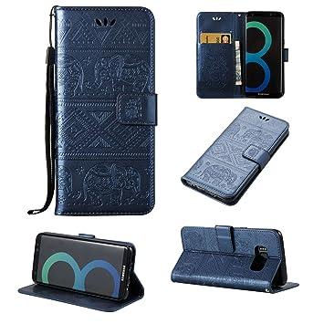 Guran® Funda de Cuero PU para Samsung Galaxy S8 Smartphone Función ...