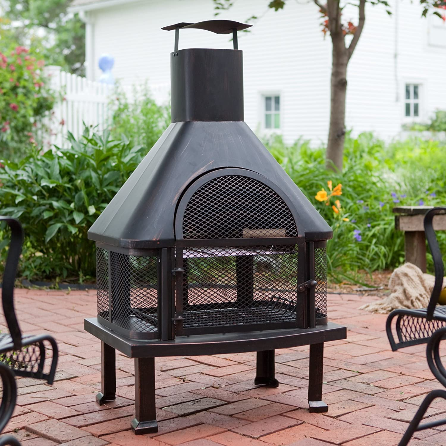 Amazon.com : Red Ember Wellington 4 Ft. Fireplace With FREE Cover : Outdoor  Fireplaces : Garden U0026 Outdoor